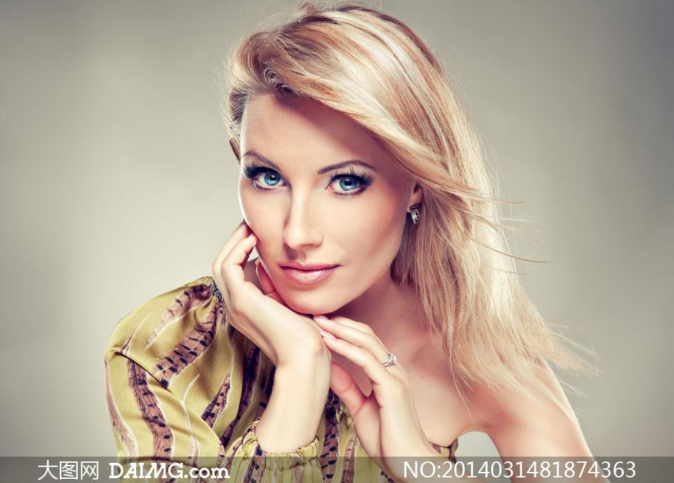 柔顺飘逸秀发美女模特摄影高清图片