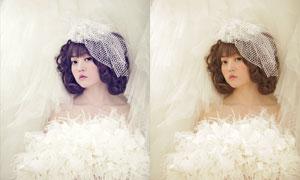 新娘私房照日系唯美效果PSD圖層