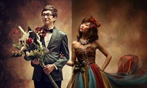 古典婚片美化和調亮處理PSD圖層