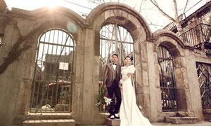歐式婚片古典冷色效果PSD圖層