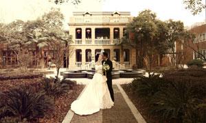 婚紗照片歐式古典膚色PSD調色圖層