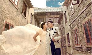 街景婚片懷舊復古效果PSD調色圖層