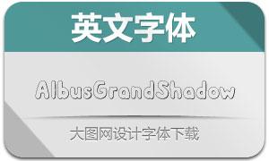 AlbusGrandShadow(英文字体)