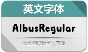 AlbusRegular(英文字体)