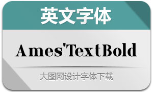 Ames'TextBold(英文字体)