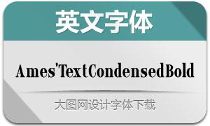 Ames'TextCondensedBold(英文字体)