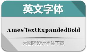 Ames'TextExpandedBold(字体)