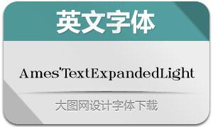 Ames'TextExpandedLight(字体)
