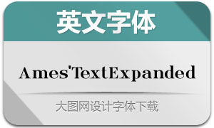Ames'TextExpanded(英文字体)
