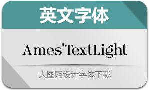 Ames'TextLight(英文字体)