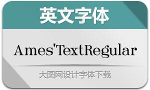 Ames'TextRegular(英文字体)