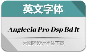 AngleciaProDisplayBoldItalic(字体)