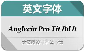 AngleciaProTitleBoldItalic(字体)