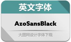 AzoSansBlack(英文字体)
