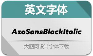 AzoSansBlackItalic(英文字体)