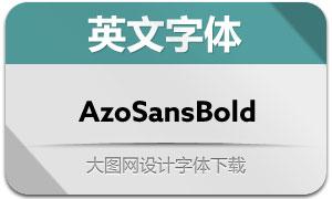AzoSansBold(英文字体)