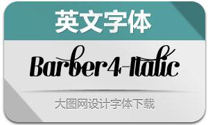 Barber4-Italic(英文字体)