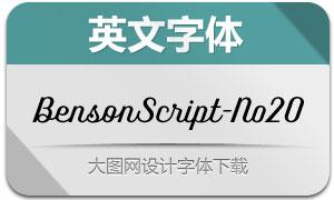 BensonScript-No20(英文字体)