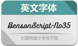 BensonScript-No35(英文字体)