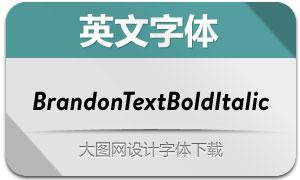 BrandonTextBoldItalic(英文字体)