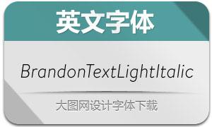 BrandonTextLightItalic(英文字体)