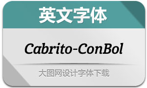 Cabrito-ConBolIt(英文字体)
