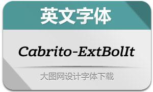 Cabrito-ExtBolIt(英文字体)