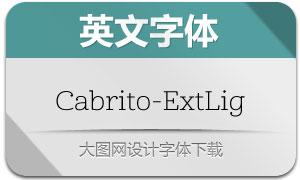 Cabrito-ExtLig(英文字体)