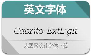 Cabrito-ExtLigIt(英文字体)