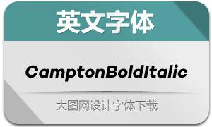CamptonBoldItalic(英文字体)