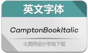 CamptonBookItalic(英文字体)
