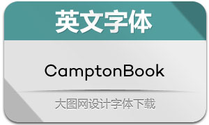 CamptonBook(英文字体)