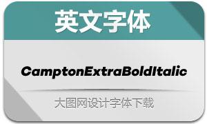 CamptonExtraBoldItalic(英文字体)