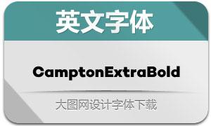 CamptonExtraBold(英文字体)