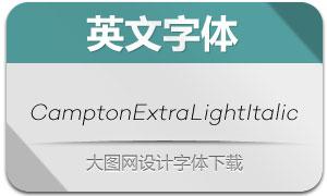 CamptonExtraLightItalic(字体)