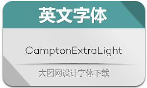 CamptonExtraLight(英文字体)