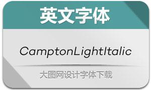 CamptonLightItalic(英文字体)