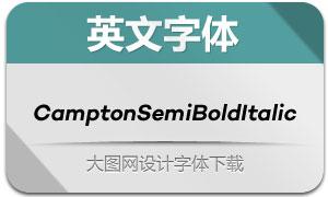 CamptonSemiBoldItalic(英文字体)