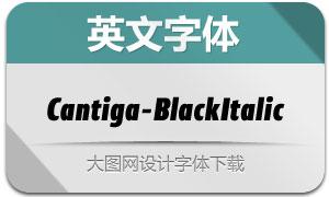 Cantiga-BlackItalic(英文字体)