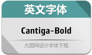 CantigaBold(英文字体)