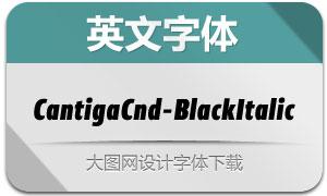 CantigaCnd-BlackItalic(英文字体)