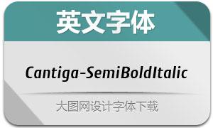 Cantiga-SemiBoldItalic(英文字体)