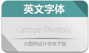Cantiga-ThinItalic(英文字体)