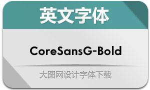 CoreSansG-Bold(英文字体)