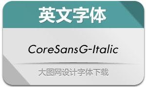 CoreSansG-Italic(英文字体)