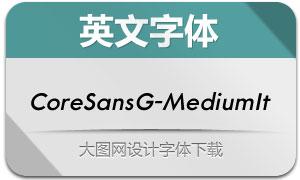CoreSansG-MediumItalic(字体)