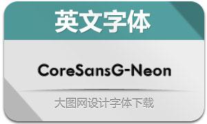 CoreSansG-Neon(英文字体)