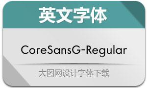 CoreSansG-Regular(英文字体)