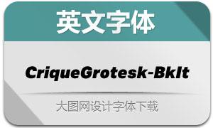 CriqueGrotesk-BkIt(英文字体)