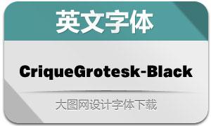 CriqueGrotesk-Black(英文字体)